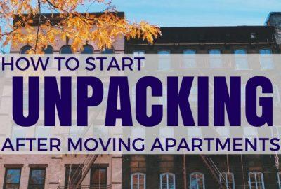 公寓搬遷後如何開始拆箱